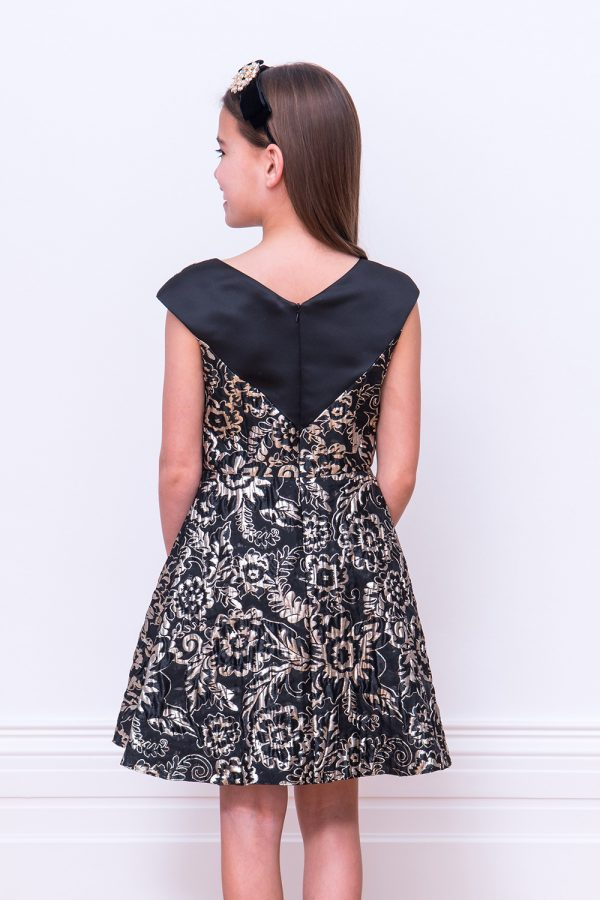 Black and Gold Festive Gown