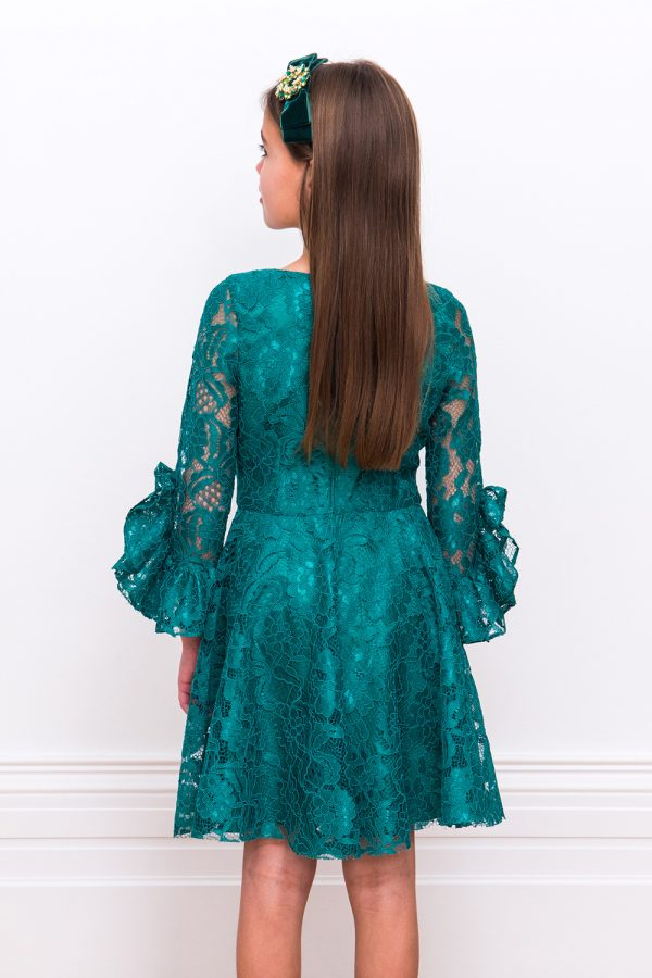 Green Lace Holiday Dress