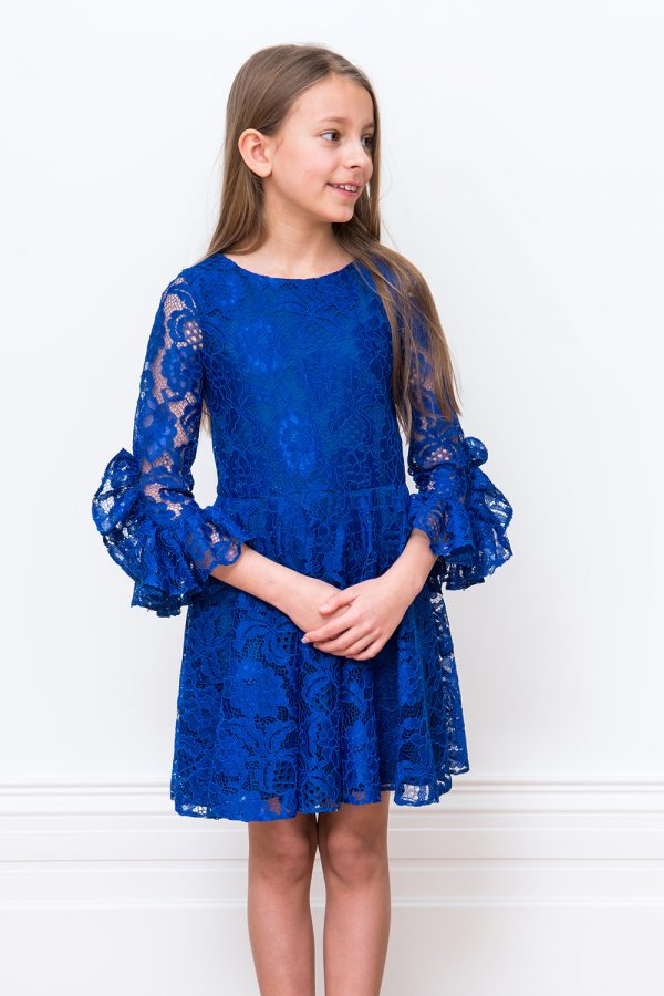 Royal Blue Lace Occasion Dress