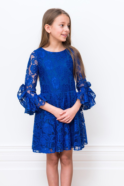 نتيجة بحث الصور عن اللون الأزرق فساتين اطفال