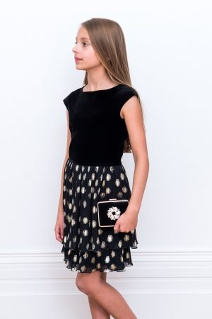 Black Polka Dot Frill Dress