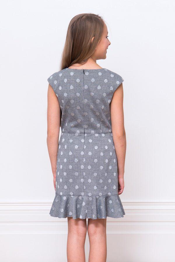 Black and Grey Ruffle Dress