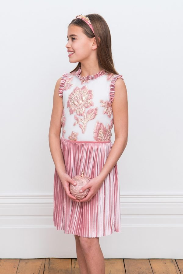 Petal Pink Floral Birthday Dress