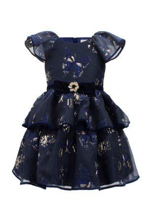 Navy Butterfly Tea Dress