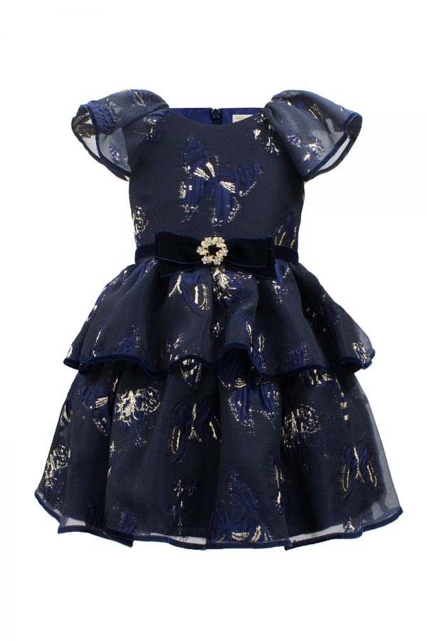 Navy Butterfly Tea Dress