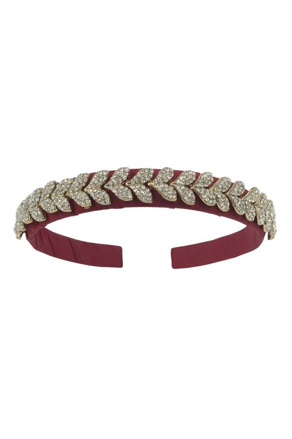 Embellished Red Alice Band