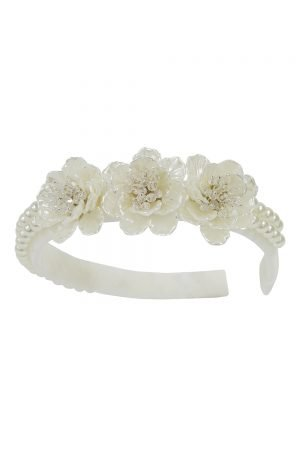Ivory Pearl Flower Hair Band
