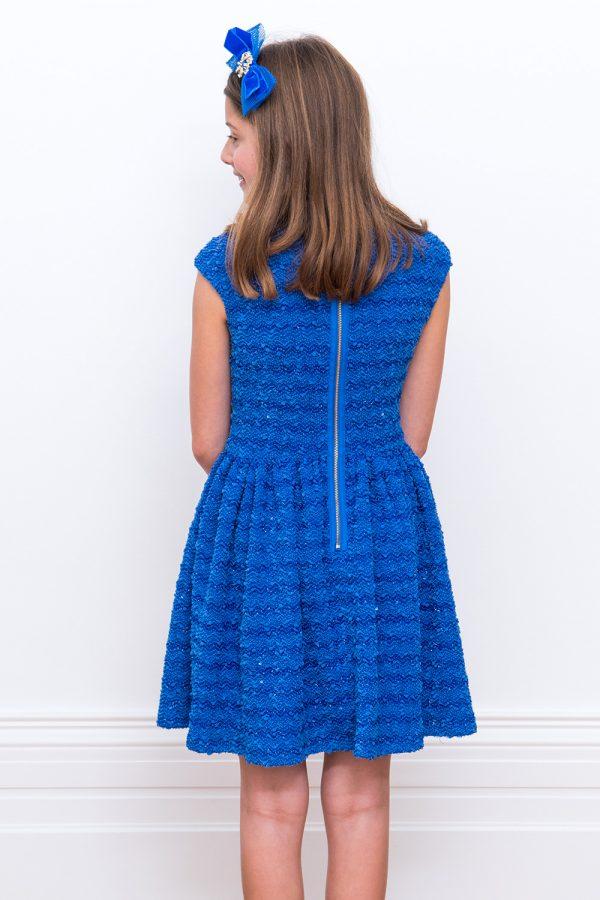 Royal Blue Boucle Dress