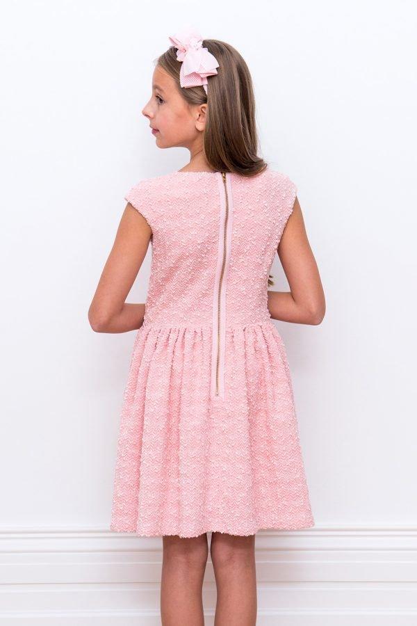 Bon Bon Pink Boucle Dress
