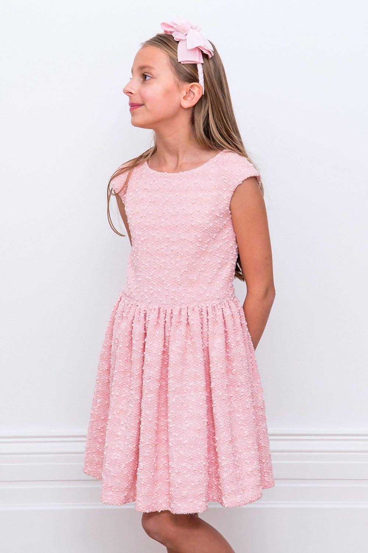2278b31c6c6 Bon Bon Ροζ Boucle Φόρεμα - David Charles παιδικά φορέματα