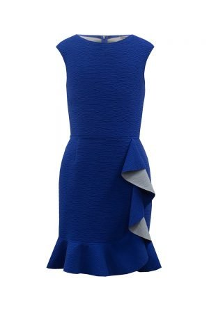 Royal Blue Ruffle Formal Dress
