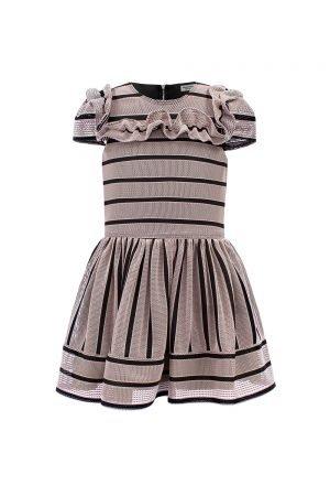 Pink Ruffle Techno Dress