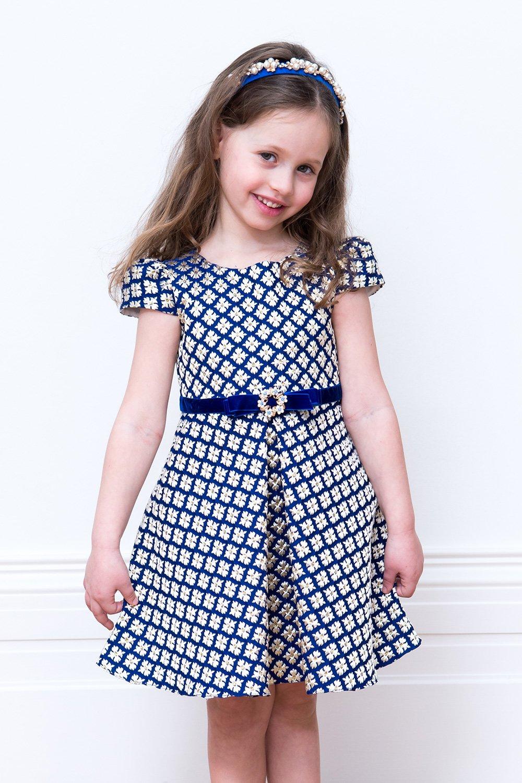 4fc5df36ad80 Ρομαντικό φόρεμα γενεθλίων μπλε μπρακίδων - David Charles Childrens Wear