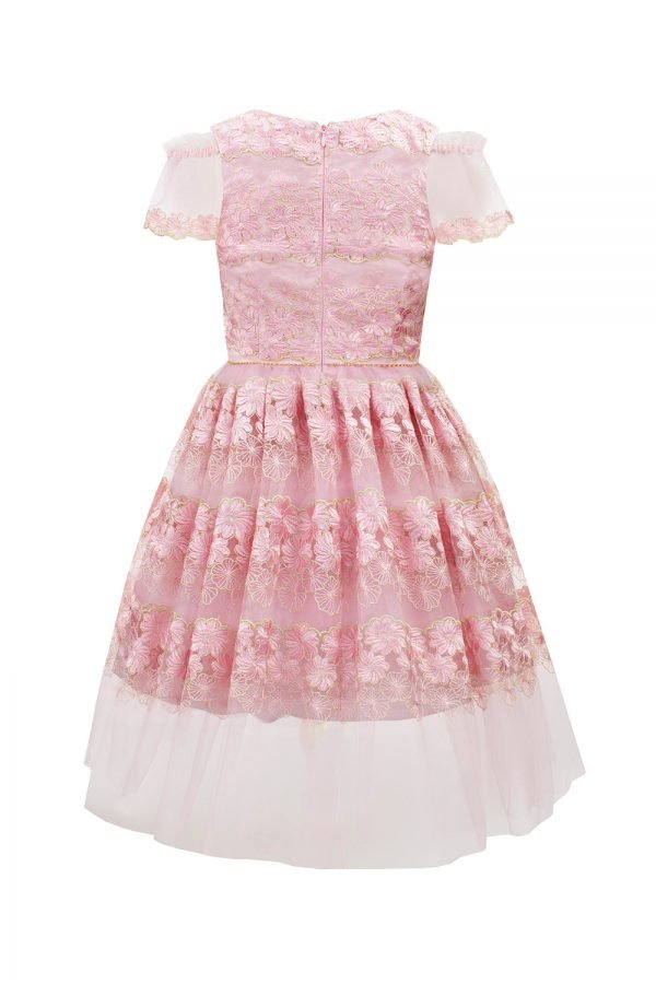 Pink Floral Birthday Dress