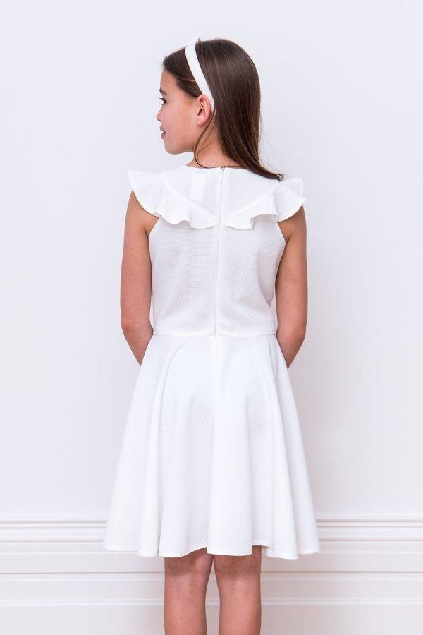 Ivory Ruffle Skater Dress