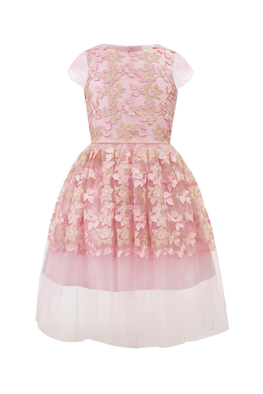 9f4cf98a Blekrosa brudepike kjole kjole - David Charles barneklær