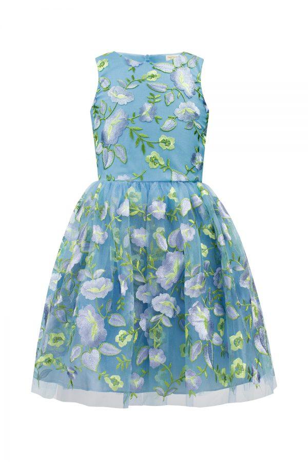Pale Blue Flower Dress