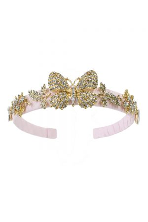 Blush Pink Butterfly Hair Band