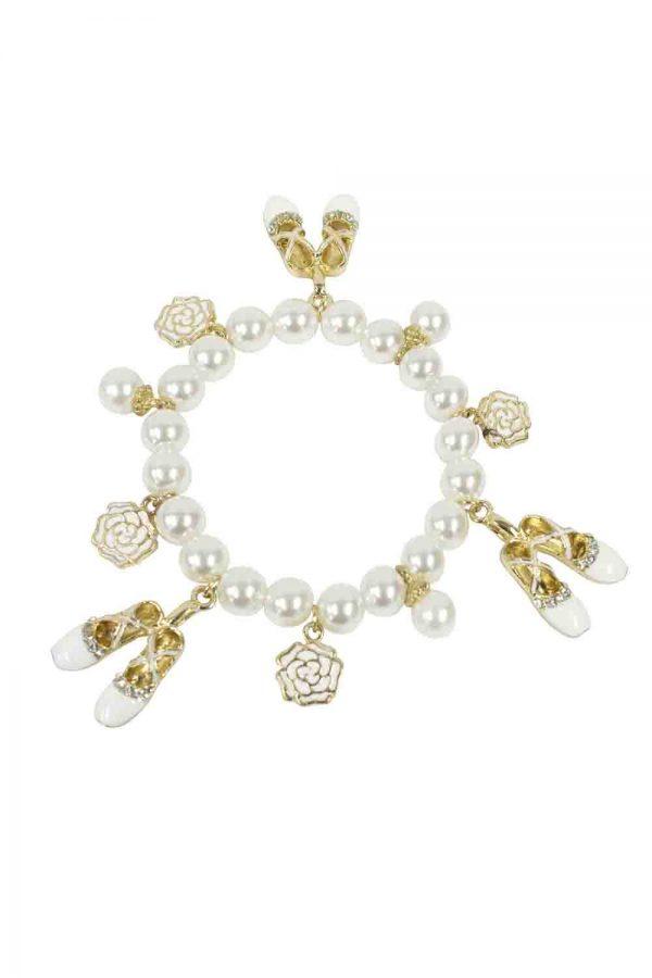 Ivory Ballerina Charm Bracelet