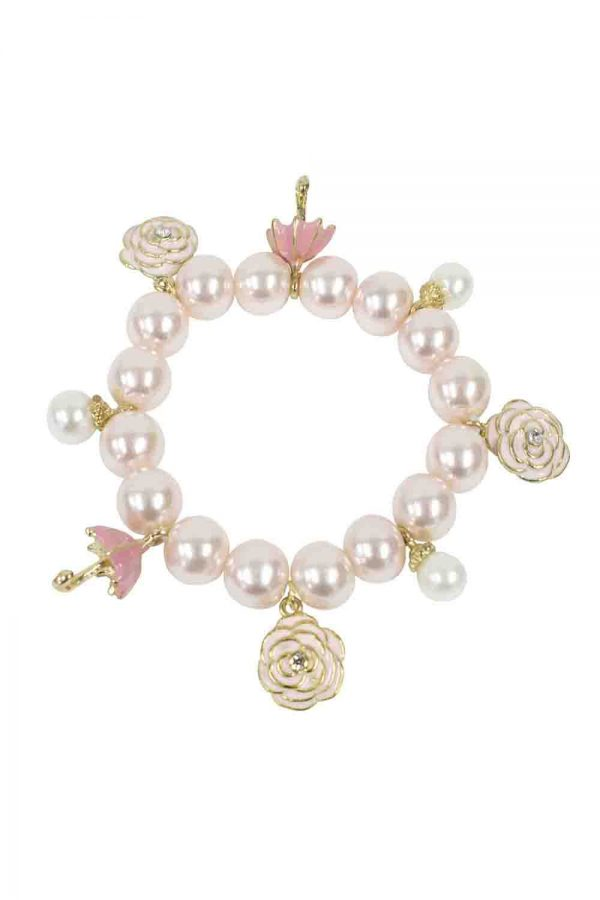 Pink Champagne Pearl Bracelet