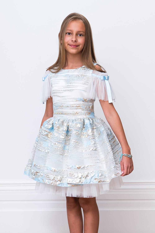 b1b936857 Pearlescent Blue Ballerina Gown - David Charles Childrens Wear