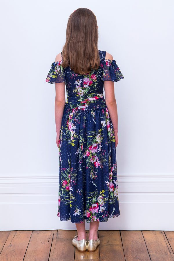 Royal Blue floral Maxi Dress