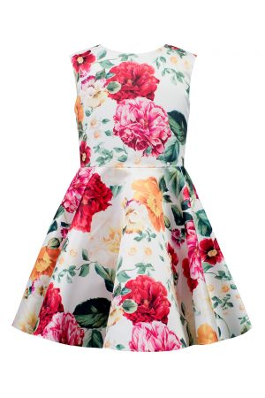 Ivory Flower Garden Swing Dress