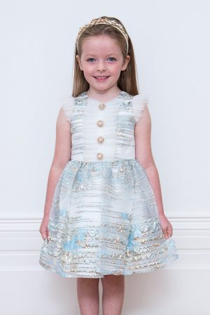 Pearlescent Blue Party Gown