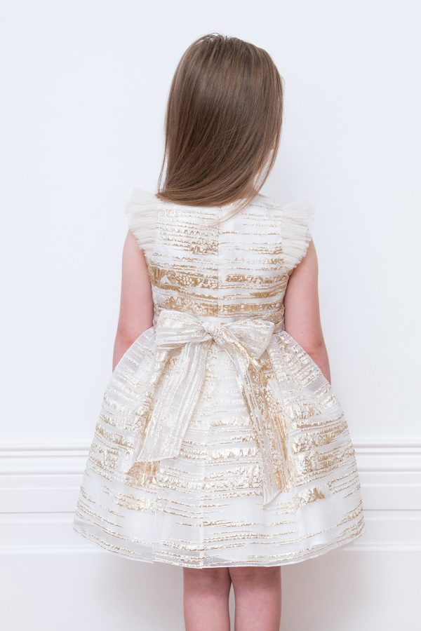 Ivory and Gold Party Dress