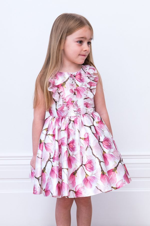 Ivory and Pink Peony Tea Dress