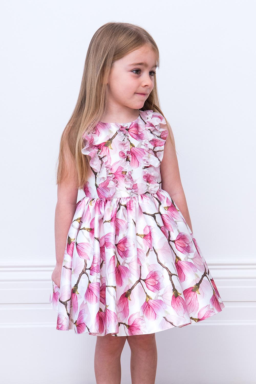Ivory and Pink Peony Tea Dress
