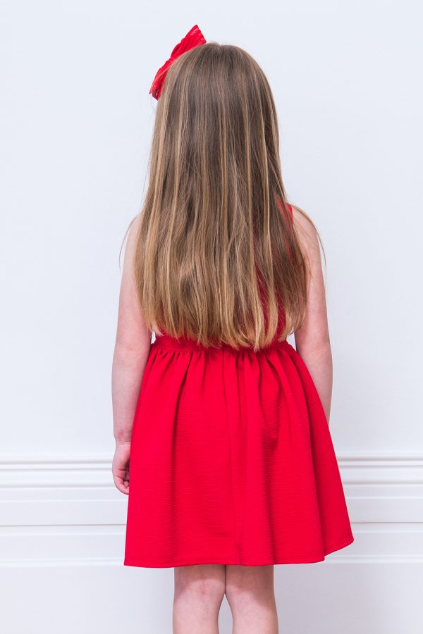 Red Frill Party Dress