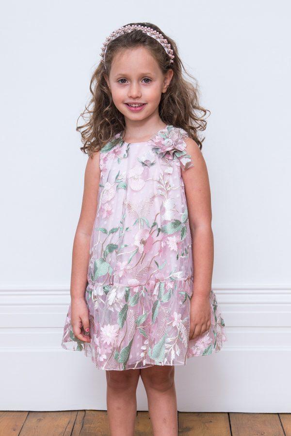 Petal Pink Floral Swing Dress