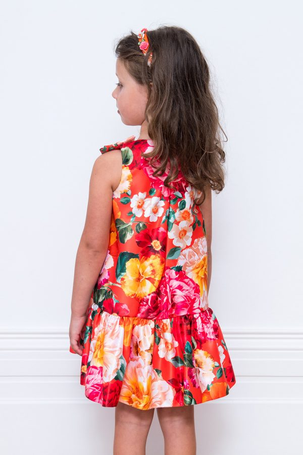 Orange Summer Bouquet Dress