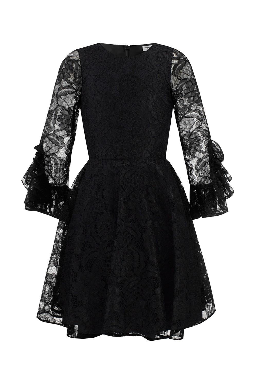 bcaa2d0e7875 Fekete csipke születésnapi ruha - David Charles Childrens Wear
