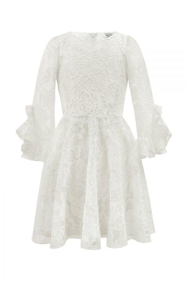 Ivory Lace Bridesmaid Dress