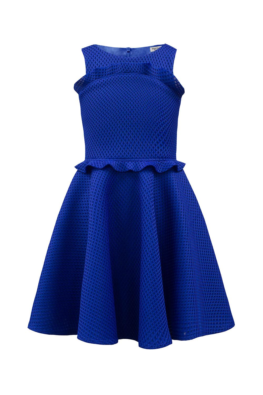 8e3d7a95302b3 ثوب أزرق ملكي من الكشكشة - ملابس ديفيد تشارلز للأطفال