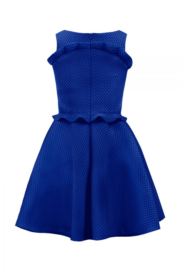 Royal Blue Ruffle Occasion Gown