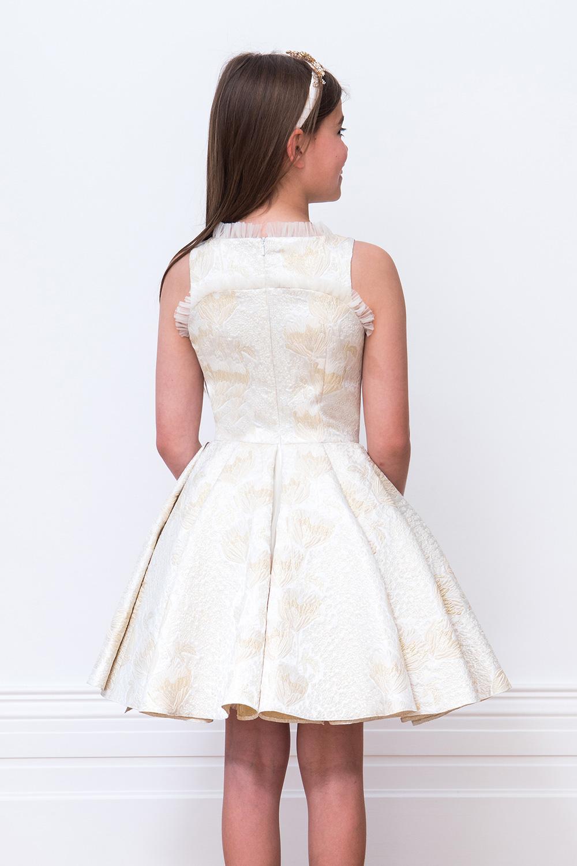 e004cb5d8 Gold Ballerina Bridesmaid Gown - David Charles Childrens Wear
