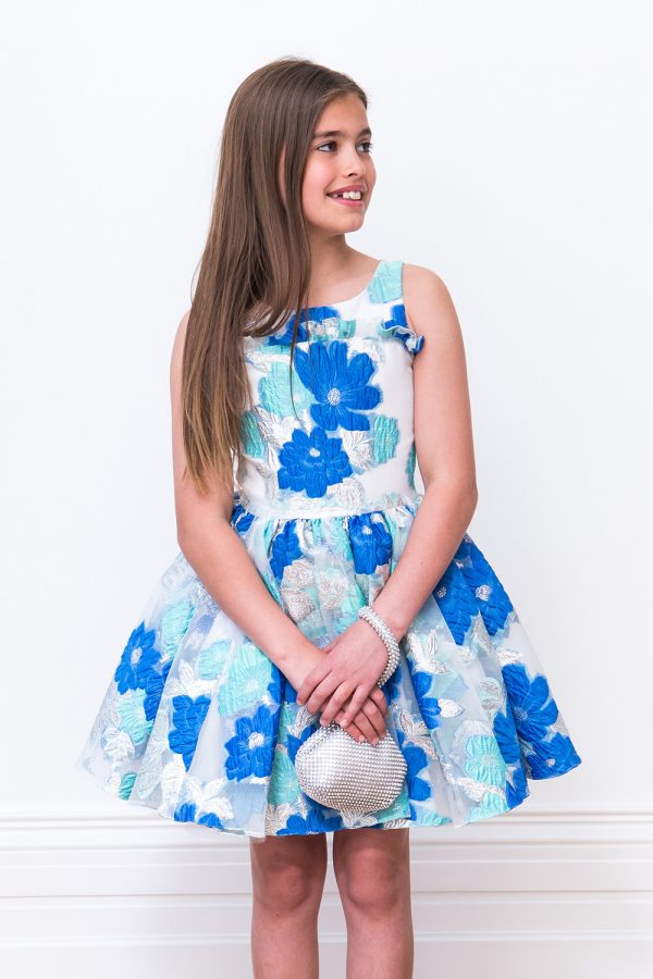 Blue Frosted Prom Gown