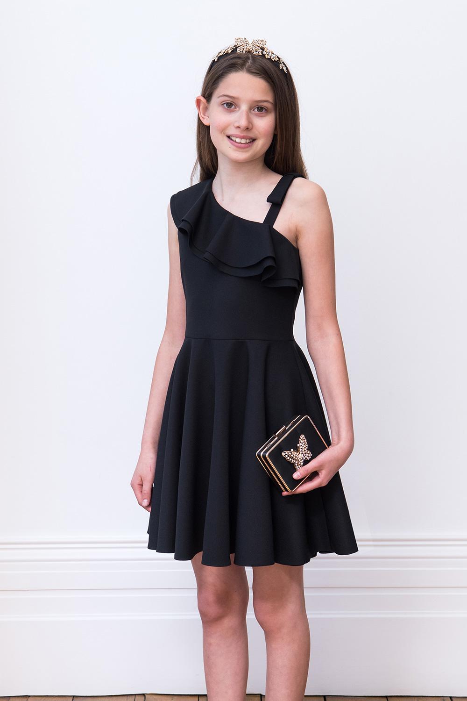 6127ee8ec0dd Black Asymmetric Formal Dress · Sort Asymmetrisk Formel Kjole