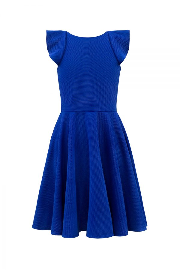 Royal Blue Frill Back Dress