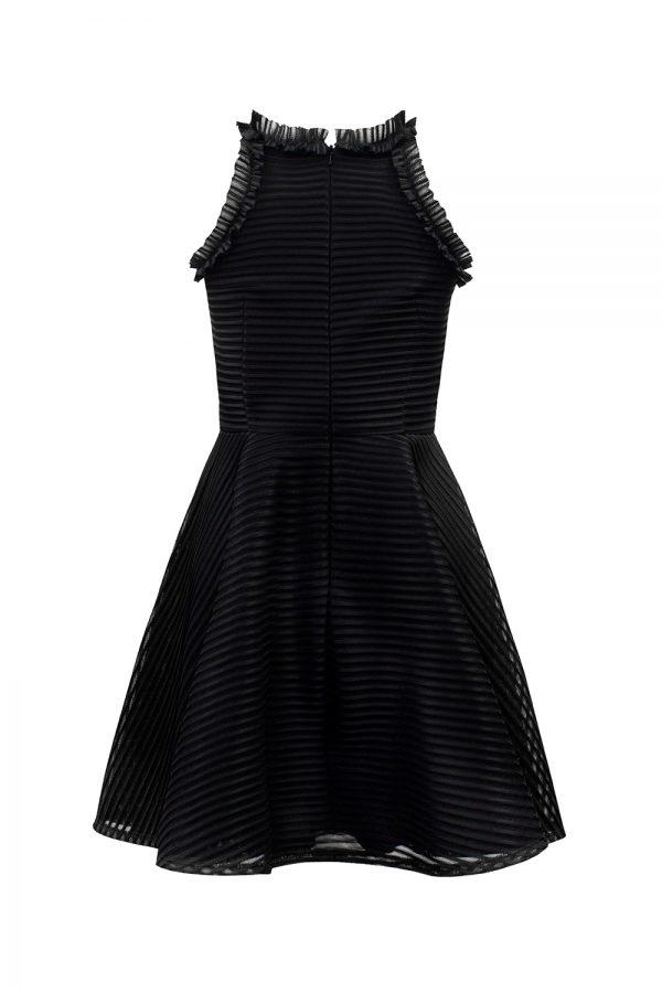 Black Formal Trim Dress