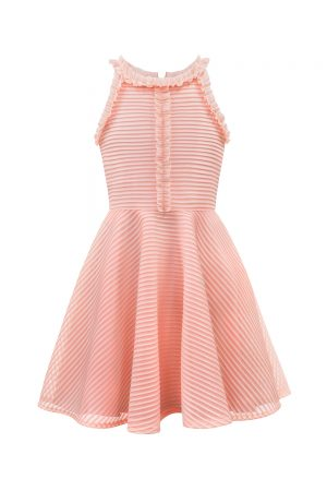 Blush Pink Ruffle Party Dress