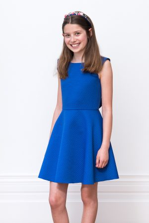 Royal Blue Frill Detail Dress