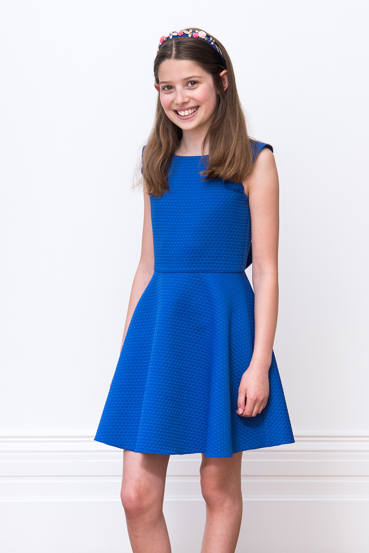 33408d709 فستان بنمط ملكي أزرق داكن - ملابس أطفال ديفيد تشارلز