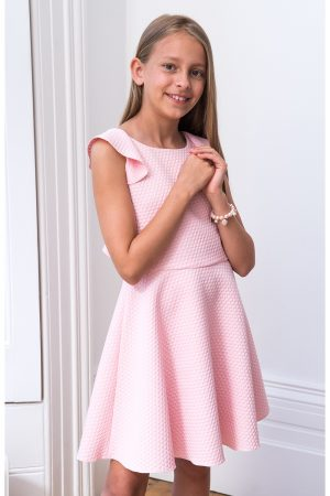 Pink Frill Back Dress