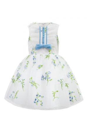 Ivory Bluebell Flower Girl Gown