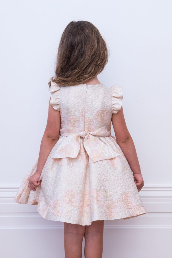 Blush Pink Brocade Party Dress