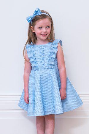 Baby Blue Ruffle Skater Dress